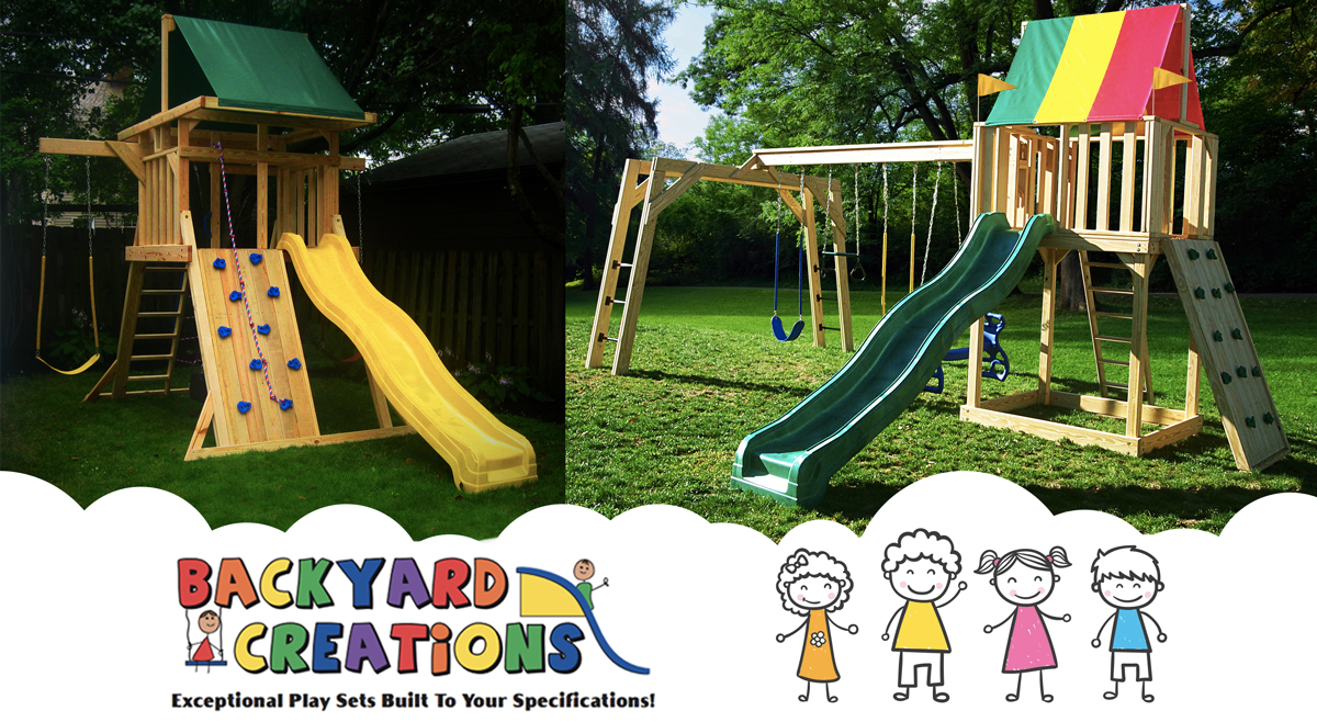 outdoor playsets backyard creations wood playsets