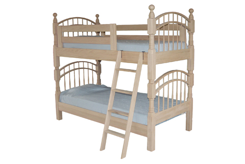 Double Bow Bunk Beds - Geitgey's Amish Country Furnishings