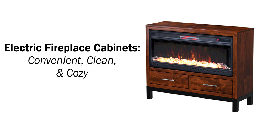 Electric Fireplace Cabinets - Header - Geitgey's Amish Country Furnishings