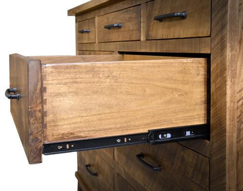 Amish Hardwood Furniture - Drawer Detail - Geitgey's Amish Country Furnishings