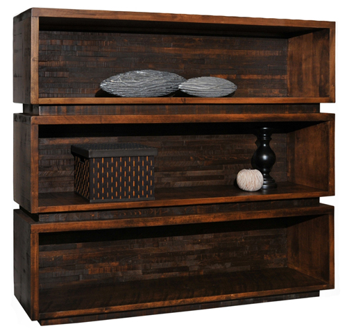Amish Hardwood Furniture - Ledgerock Bookcase - Geitgey's Amish Country Furnishings