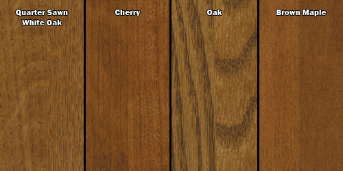 Wood Samples - Geitgey's Amish Country Furnishings