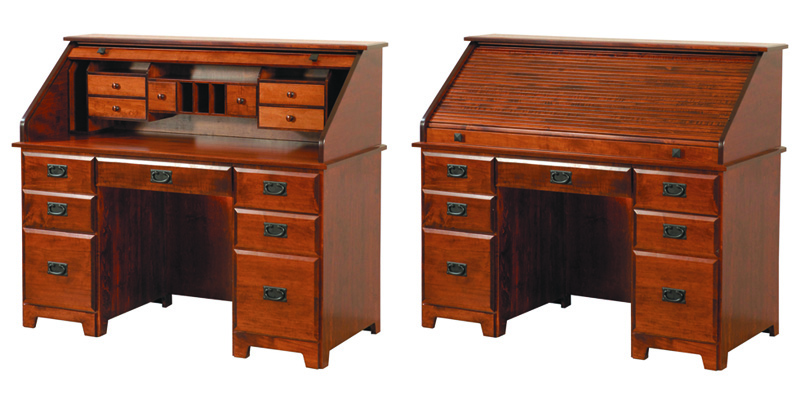 Murphy Rolltop Desk - Geitgey's Amish Country Furnishings