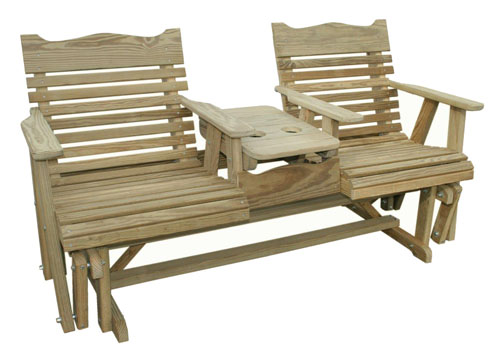 Plain Settee Glider - Geitgey's Amish Country Furnishings