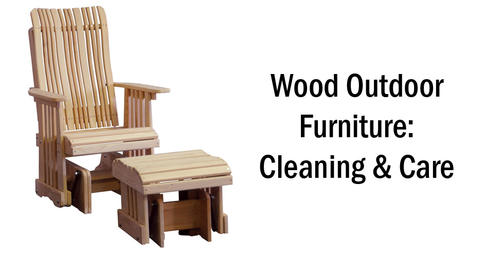 Wood Outdoor Furniture - Header - Geitgey's Amish Country Furnishings