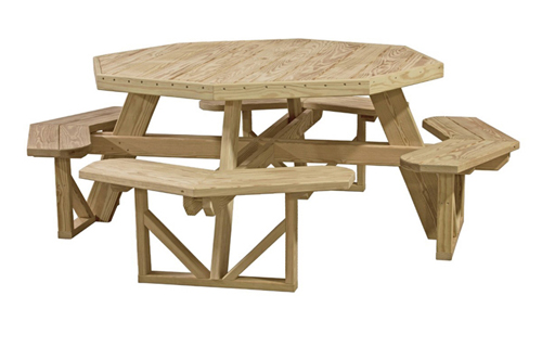 Luxcraft Octagon Picnic Table - Geitgey's Amish Country Furnishings