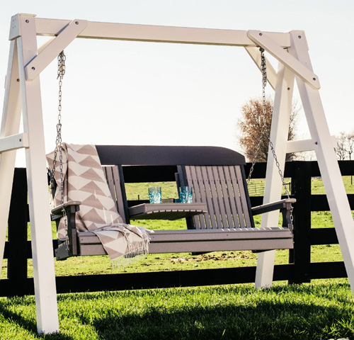 Luxcraft Poly 5' Plain Swing - Geitgey's Amish Country Furnishings