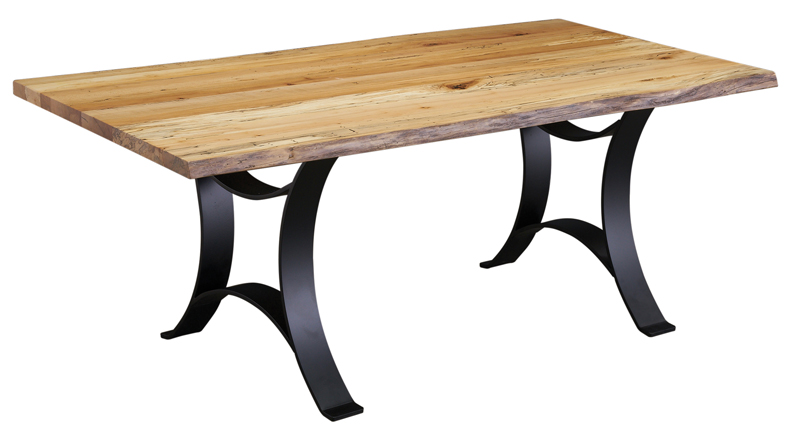 40 x 72 Spalted Maple Dining Table with Golden Gate Base