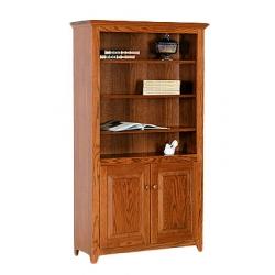 Doughty Ridge Bookcase with Bottom Doors