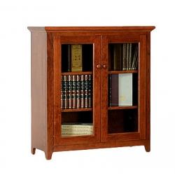 Doughty Ridge Bookcase with Full Length Glass Doors