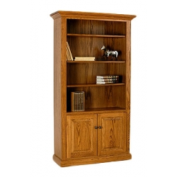 Deluxe Bookcase with Bottom Doors