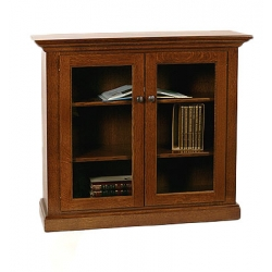 Deluxe Bookcase with Full Length Glass Doors