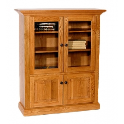 Deluxe Bookcase with Top and Bottom Doors