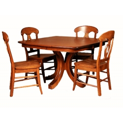 Williamson Single Pedestal Dining Table Set