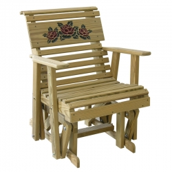 2' Rollback Rose Glider Chair