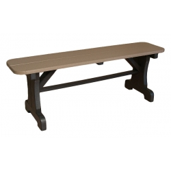 "48"" Straight Backless Bench"