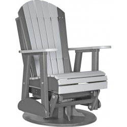 2' Poly Adirondack Swivel Glider Chair