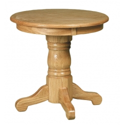 "Country 24"" Round End Table"