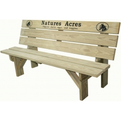 6' Park Bench W/ Custom Engraving