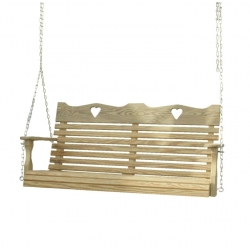 6' Crown Swing with Hearts
