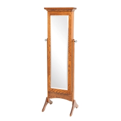 Standing Shaker Mirrored Jewelry Armoire