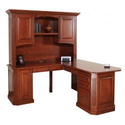 "Buckingham 68"" Corner Desk with Hutch"