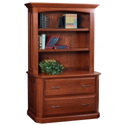 Buckingham Lateral File with Bookshelf