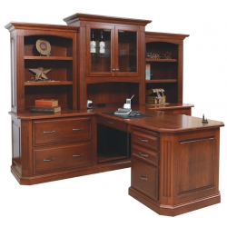 Buckingham Partner Desk with Three Piece Hutch