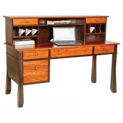 "Craftsman 62"" Computer Desk & 15"" Hutch"