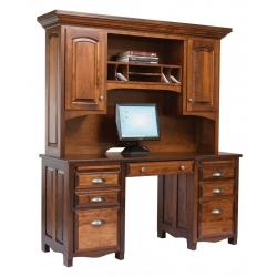 Laurel Double Pedestal Desk & Hutch