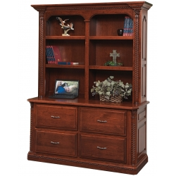 Lexington Double Lateral File & Bookshelf