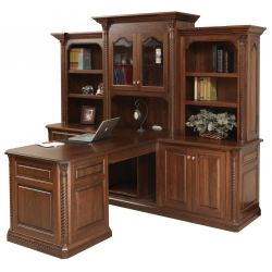 Lexington Partner Desk W/ Three Piece Hutch