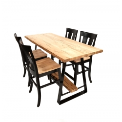 Live Edge Jamestown Counter Table Set