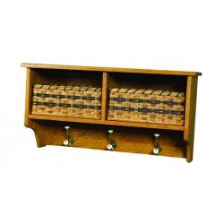 2-Basket Wall Shelf