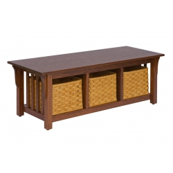 3-Basket Mission Coffee Table