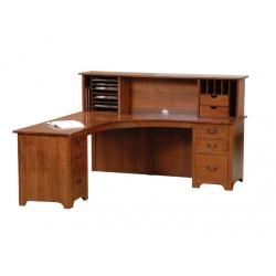 Liberty Corner Desk and Open Hutch