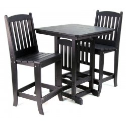 "33"" Square Bar Table Set"