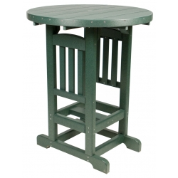 "Poly 33"" Round Bar Table - Turf Green"