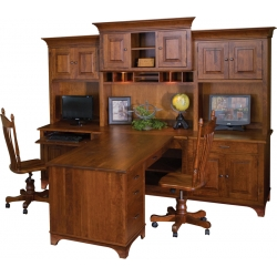 Finley Partner Desk and Hutch