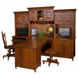 Henry Stephen's Partner Desk and Hutch