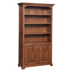 """Kingston 72"""" Bookshelf w/ Bottom Doors"""