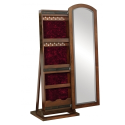 "Antique Shaker Leaner Mirror - 48"" Jewelry Box"