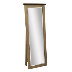 Barn Wood Leaner Mirror with Support