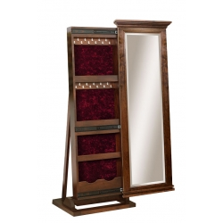 "Brooklyn Leaner Mirror - 48"" Jewelry Box"