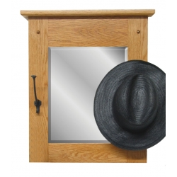 Classic Mission Wall Mirror with Hooks