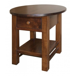 Cabin Creek Oval Top End Table