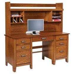 """Jacobsville 72"""" Double Pedestal Desk & Hutch"""