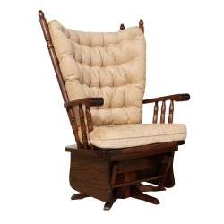#196 Wide High Back Swivel Glider