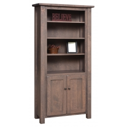 "Barn Floor 72"" Bookcase with Doors"