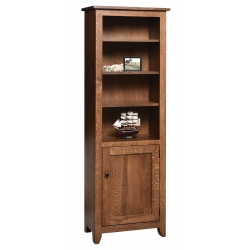 """Modern Mission 24"""" x 72"""" Bookcase with Doors"""